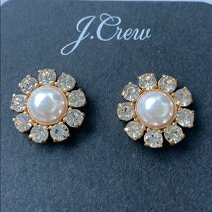 J.crew stud pearl earrings